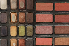 Makeup #11. Makeup and cosmetics colour palette royalty free stock photography
