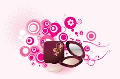 Makeup. Fashion cosmetic theme pattern design Stock Image