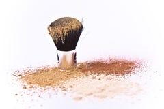 σκόνη βουρτσών makeup Στοκ Φωτογραφίες