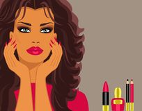 makeup διανυσματική απεικόνιση