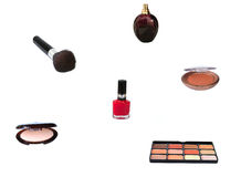 Makeup. Assorted makeup royalty free stock photography