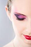 ξανθό makeup ομορφιάς Στοκ Εικόνες