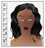 makeup vektor illustrationer