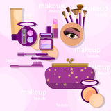 makeup stock illustrationer
