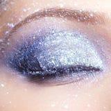 Λάμποντας μάτια γυναικών makeup Στοκ Εικόνες