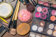 Makeup accessories. Stock Photos