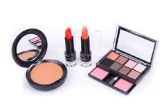 Makeup accessory. On white background Royalty Free Stock Photos