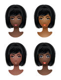 Makeup for African-American women. Royalty Free Stock Photos