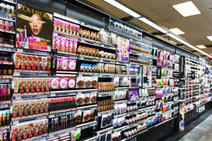 Makeup Aisle. A shot of a typical make up aisle in a store Royalty Free Stock Photo