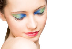 Makeup with amazing colors. Royalty Free Stock Photos