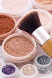 Makeup And Brush Stock Photo
