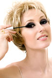 Makeup application Stock Photography
