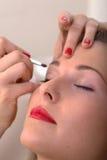 Makeup application Royalty Free Stock Photos