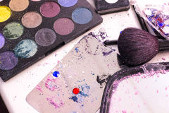 Makeup Application Mess Royalty Free Stock Photo