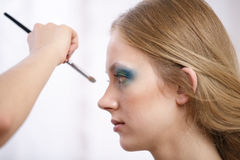 Makeup application Stock Photo
