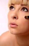 Makeup Applying Stock Image