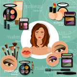 Makeup artis beautiful woman face professional cosmetics Royalty Free Stock Photo