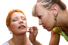 Makeup artist 2 Royalty Free Stock Images