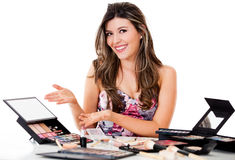 Makeup artist Stock Photo