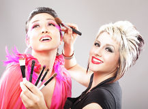 Makeup artist Royalty Free Stock Images