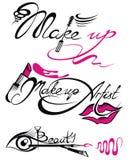 Makeup artist set. Makeup artist banner with business concepts stock illustration