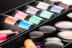 Makeup artist case content Stock Image