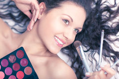 Makeup artist portrait Royalty Free Stock Photography