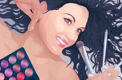Makeup artist portrait Royalty Free Stock Photos
