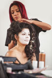 Makeup Artist and Pretty Performer Stock Photos