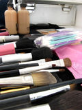 Makeup artist's tools. Portrait photo of makeup artist's tools royalty free stock images