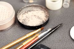 Makeup artist's tools Royalty Free Stock Image