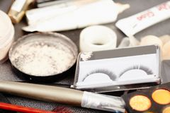 Makeup artist's tools Stock Photography