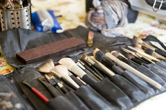 Makeup artist tools Stock Photo