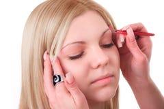 Makeup artist at work Stock Images