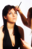 Makeup artist at work Royalty Free Stock Images
