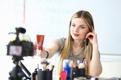 Makeup Artist Work on Beauty Video Blog Review