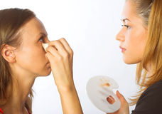 Makeup artist at work Stock Image