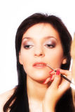 Makeup artist at work Royalty Free Stock Image