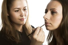 Makeup artist at work Stock Image