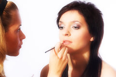 Makeup artist at work Stock Photography