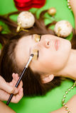 Makeup for beautiful pinup girl Stock Images