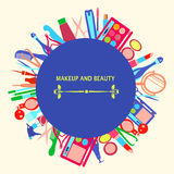 MakeUp and beauty cosmetic Symbols Stock Photography