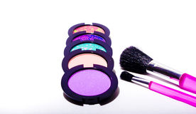 Makeup04. Makeup and beauty products on white background royalty free stock photography
