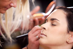 Makeup and beauty treatment Stock Photography