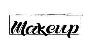 Makeup black text vector illustration