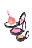 Makeup blusher kits Stock Photography