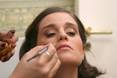 Makeup for the bride Stock Photos