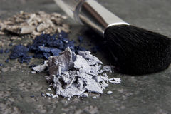 Makeup and brush Royalty Free Stock Photo