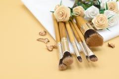 Makeup brush01 Στοκ φωτογραφίες με δικαίωμα ελεύθερης χρήσης