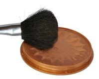 Makeup brush of actresses Royalty Free Stock Photos